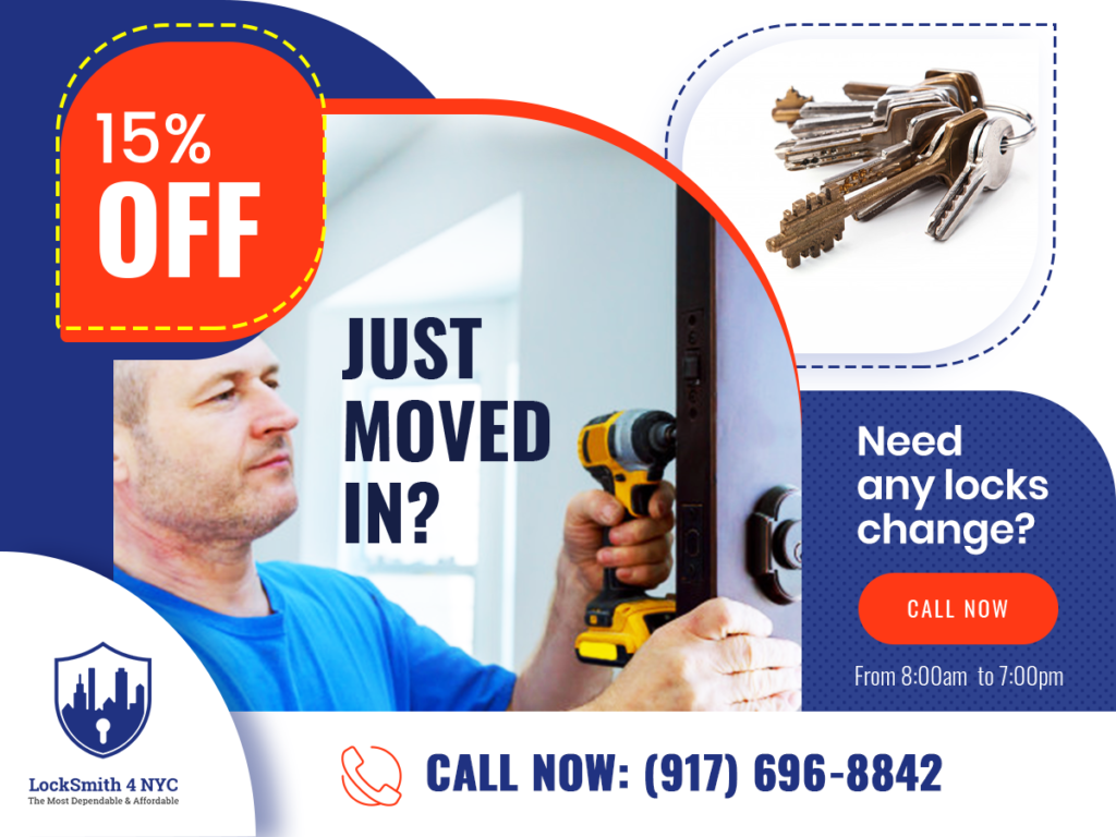 15%OFF - Just move in? any locks change in NYC