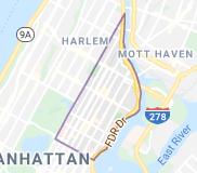 Locksmith in East Harlem Manhattan area by map