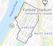 Locksmith in Harlem Manhattan areas by map
