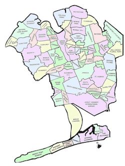 Southwestern Queens Locksmith by areas map