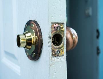 Broken door knob because of key