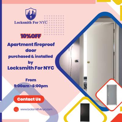 Locksmith Coupon in Manhattan - apartment door install