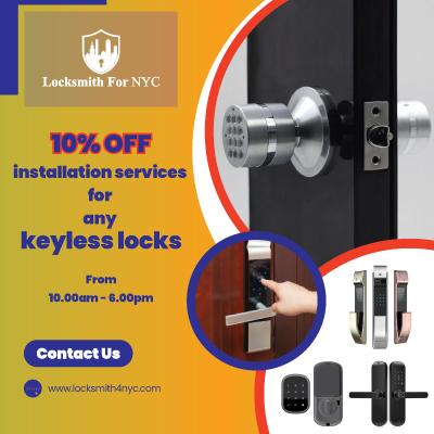 Locksmith Coupons in Queens - keyless locks installation service