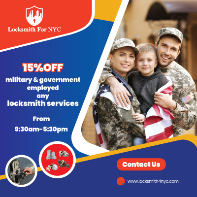 Locksmith Coupon in Bronx - military & government employed